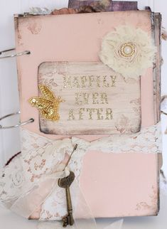 $112.83 Peach Happily Ever After Fairytale Wedding Guestbook Fairy Tale Victorian Country Vintage Shabby Chic