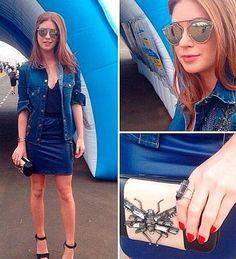 Marina Ruy Barbosa divou em um look total blue! Gostaram?
