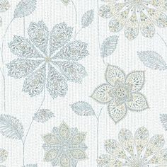 NuWallpaper Gypsy Floral Blue/Green Peel & Stick Wallpaper