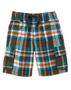Plaid Cargo Shorts at Gymboree (Gymboree 4-10y)