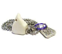 Samaritans Purse Pretty Pewter Beach Stone Necklace - ShorelineDesigned