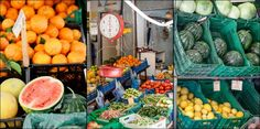 Watermelons and oranges at the charming heraklion market