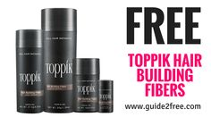Get a FREE Toppik Hair Building Fibers Sample plus a $5 off coupon!  Natural Keratin Hair Fibers make thin hair look THICKER and FULLER INSTANTLY- Choose from 9 shades to match your hair color and we will send you a free sample to put Toppik to the test, plus a $5.00 off coupon. via @guide2free