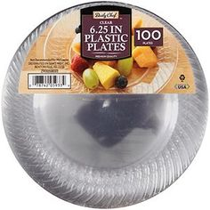 """Daily Chef Clear 6.25"""" Plastic Plates (100 ct.)"""