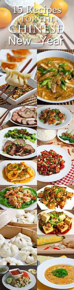 15 Recipes for the Chinese New Year - I've never made a Chinese dish in my life ... but I think I'm gonna give it a try!