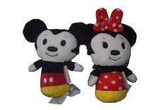 HALLMARK Itty Bitty's MICKEY MOUSE and MINNIE MOUSE Plush Dolls Toys