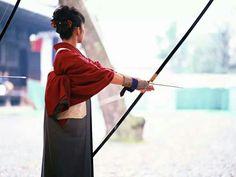 Kyudo in red