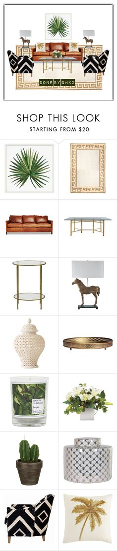 """""""leather :)"""" by qqamrah on Polyvore featuring interior, interiors, interior design, home, home decor, interior decorating, Pottery Barn, Jonathan Adler, Jayson Home and Home Decorators Collection"""