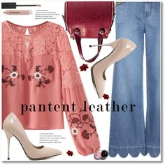 City Slickers: Patent Leater by svijetlana on Polyvore featuring moda, RED Valentino, Burberry, zaful and patentleater