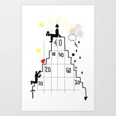 Life Pyramid Art Print by sladja - $17.68
