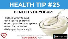 """ Benefits of yogurt """
