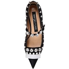 SERGIO ROSSI, 10mm sr1 embellished silk satin flats, Black,... (€895) ❤ liked on Polyvore featuring shoes, flats, flat shoes, black flats, sergio rossi, sergio rossi flats and black shoes