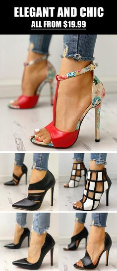 Shop Sexy Trending Shoes – Boutiquefeel offers the best women's fashion Shoes deals Online Shopping Shoes, Shoes Online, Pretty Shoes, Beautiful Shoes, Hot Shoes, Shoes Heels, Black Shoes, Sexy Heels, High Heels