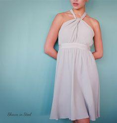 Bridesmaid dress in blush | Little Borrowed Dress
