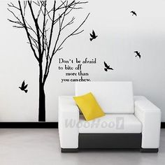 Tree Room Bedroom Mural Wall Art Sticker Decal Home Decor