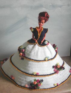 (1) CROCHET FASHION- 500 GARDEN FLOWERS for 11 1/2 Fashion Dolls such as Barbie-Original Design from ICS Original Designs- Make with #10 Crochet Thread.  If…
