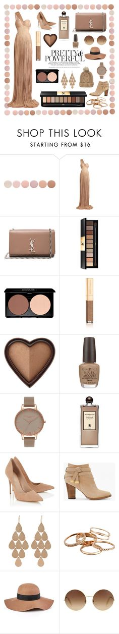 """""""Pretty & powerful"""" by ginger-ness ❤ liked on Polyvore featuring Deborah Lippmann, Maria Lucia Hohan, Yves Saint Laurent, Dolce&Gabbana, Too Faced Cosmetics, OPI, Olivia Burton, Serge Lutens, Lipsy and White House Black Market"""