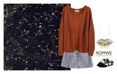 """""""Romwe star"""" by blueeyed-dreamer ❤ liked on Polyvore featuring contest, gold, skirt, Sweater and romwe"""