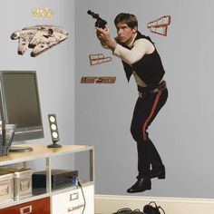 Star Wars™ Han Solo™ Giant Wall Decal