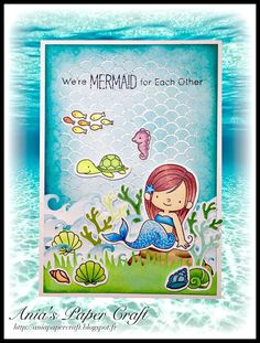 Ania's Paper Craft: Mermaid card #1