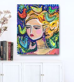 A personal favorite from my Etsy shop https://www.etsy.com/listing/279378598/abstract-portrait-painting-large-canvas