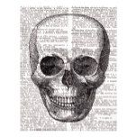 Vintage Skull Print on Dictionary Page #halloween #happyhalloween #halloweenparty #halloweenmakeup #halloweencostume