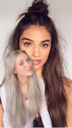 Hairdo For Long Hair, Bun Hairstyles For Long Hair, Girl Hairstyles, Hair Tips Video, Hair Videos, Hair Up Styles, Medium Hair Styles, Diy Hair Curls, Hair Tutorials For Medium Hair