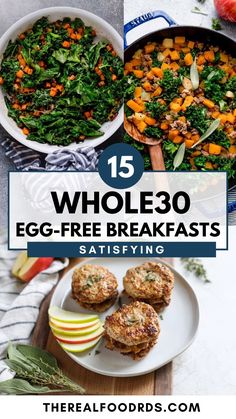 Whole 30 Meal Plan, Whole 30 Lunch, Whole 30 Breakfast, Free Breakfast, Paleo Breakfast, Breakfast Ideas, Healthy Eating Habits, Healthy Breakfasts, Clean Eating Recipes