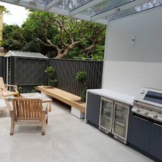 """Forge Landscapes on Instagram: """"Glebe ready just in time for Christmas!  Pergola by @finconinstallations Outdoor kitchen by @kastellkitchens Limestone Tiles supplied by…"""" Limestone Tile, Outdoor Furniture, Outdoor Decor, Outdoor Storage, Pergola, Tiles, Landscapes, Kitchen, Christmas"""