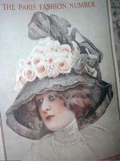 GORGEOUS 1910 PARIS FASHION Magazine French Edwardian Gowns,Millinery Couture +