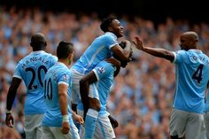 #Sterling scored first goal for #MCFC in their 2-0 win over #WatfordFC #MCIWAT #BPL