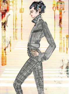 inspired by Alexander Wang - Fall 2017 Ready-to-Wear | illustration by Masaki Ryo.