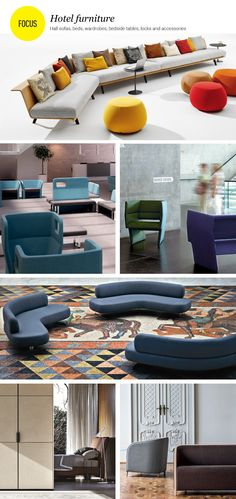 #hotel furniture: halls and bedrooms Beds, wardrobes, bedside tables, hall hotel sofas, locks and accessories