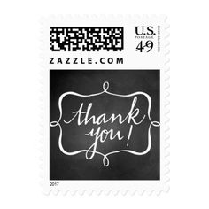 Thank You Chalkboard Wedding Stamp