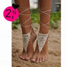 Sandalias descalzas croche