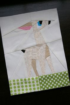 """Fearless Fawn"" paper pieced (pattern by Shape Moth) 