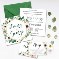 invitatie green Place Cards, Place Card Holders