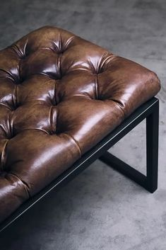 ZENITH BENCH Leather Ottoman Coffee Table, Bench, Furniture, Design, Home Decor, Couches, Leather, Decoration Home, Room Decor