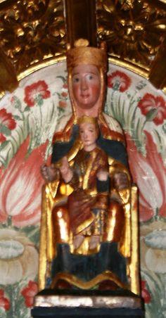 01.011.0239.05131.05694.0809 Virgen del Rebollar en Vega de Bur Madonna, Medieval Art, Romanesque, Statue, Art Techniques, Buddha, Mary, Child, Painting