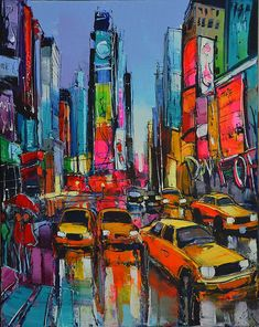 With roots stretching far into New Orleans History and art scene. New York Painting, City Painting, Mediterranean Paintings, Urbane Kunst, Abstract City, Cityscape Art, A Level Art, City Art, French Art