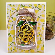 When life gives you lemons...new Shaker Card in my store!! 🍋🍋