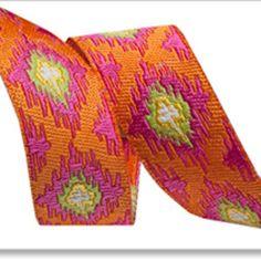 Dena Fishbein - Dena Designs Ribbons - Ikat in Orange