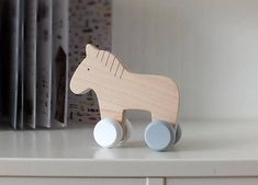 Wooden Push Animal Toy - Toy for Toddler - Waldorf Wooden toy. This playful, natural wooden push toy enhances active play and supports the development of motor skills. It's also a great tool for stimulating the imagination and promoting emotional, social and language development. Made