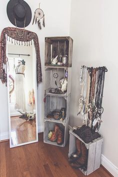 Bohemian Dressing Room: make getting ready easier by having all your accessories where you can see them.