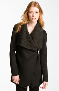 Mackage Cable Knit Collar Coat available at #Nordstrom
