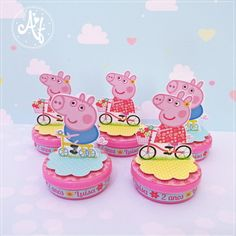 Bolo Da Peppa Pig, Aniversario Peppa Pig, George Pig, Pig Party, Malu, 3 D, Cake Decorating, Birthday Parties, Maria Alice