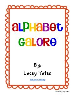 Alphabet cards, pictures - Free!