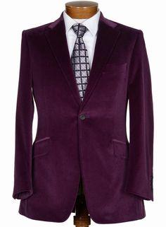 "Hawt..! 'What is that velvet?"" ...  Bespoken-Sportcoat Purple Breasted England"