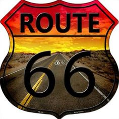 Route 66 Sunset Highway Shield Metal Sign Novelty Retro Home Wall Decor Route 66 Usa, Route 66 Sign, Route 66 Road Trip, Route 66 Decor, Travel Route, Man Cave Wall Decor, Home Wall Decor, Vintage Signs, Vintage Posters