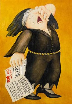 Beryl Cook's self-portrait:  RIP